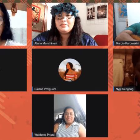 Debate sobre presença indígena na universidade marca lançamento do caderno da Semana dos Povos Indígenas 2021 do COMIN